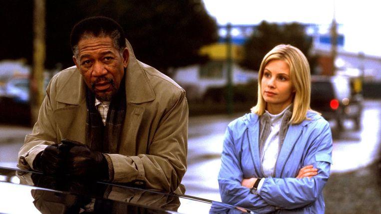Morgan Freeman en Monica Potter in Along Came a Spider van Lee Tamahori Beeld