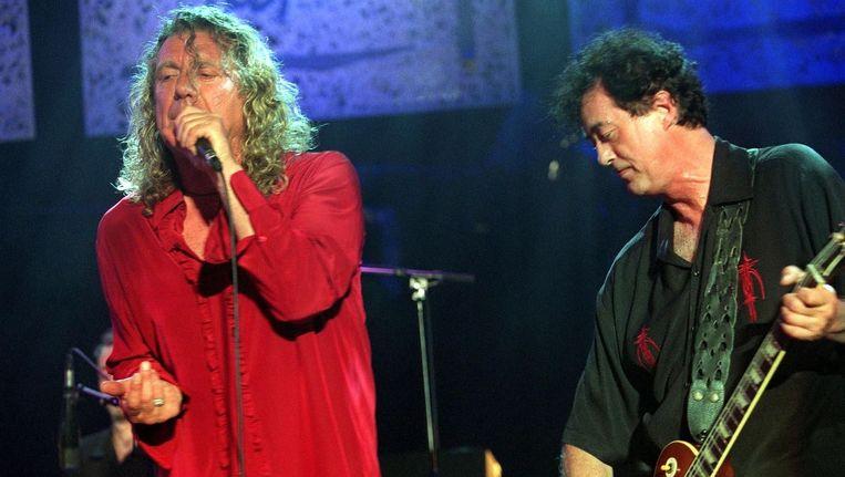 Robert Plant en Jimmy Page van Led Zeppelin.
