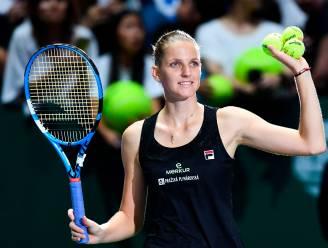 Pliskova en Svitolina naar halve finale op Masters