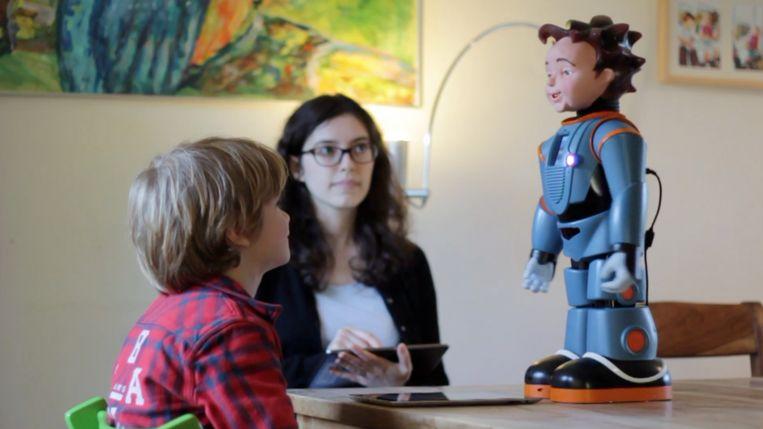 Robot Zeno in actie. Beeld Universiteit Twente