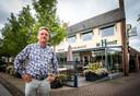 Eigenaar Gerard van Dijk in 2019 voor zijn hotel-restaurant.