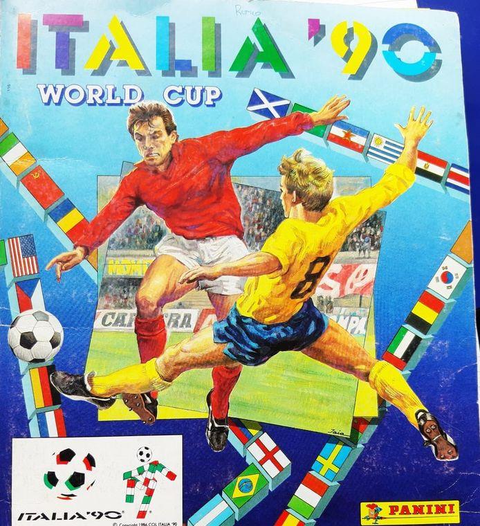 Het Panini-plakboek van het Wereldkampioenschap voetbal in 1990 is inmiddels rond de 150 euro waard.