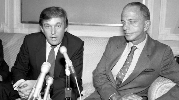 Roy Cohn et Donald Trump.