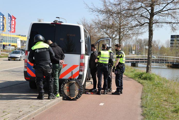 De politie verrichtte meerdere arrestaties.