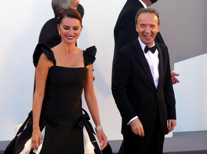 Roberto Benigni et Penelope Cruz
