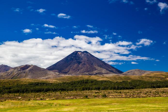 Vue du mont Tongariro, dans le parc national du même nom, en Nouvelle-Zélande.