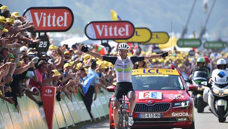 Steve Cummings wint de zevende etappe van de zevende etappe. Beeld photo_news