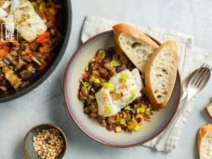 Wat Eten We Vandaag: Caponata met gestoofde kabeljauw
