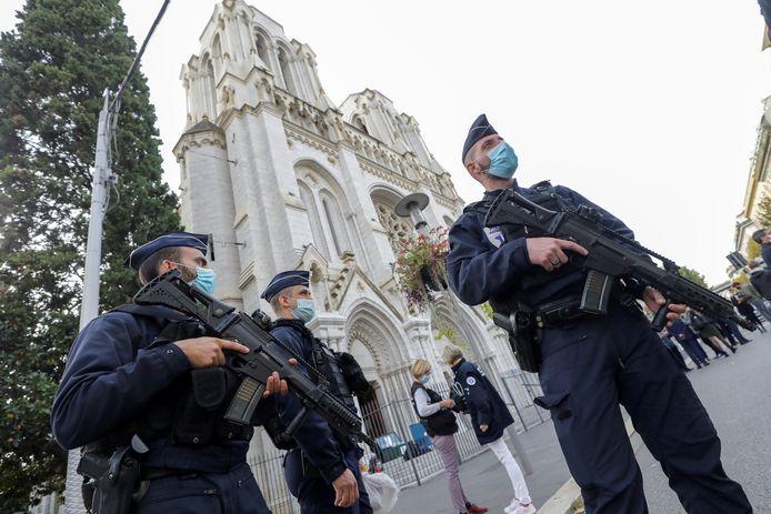 Illustration - Police, Nice, 29 October 2020.