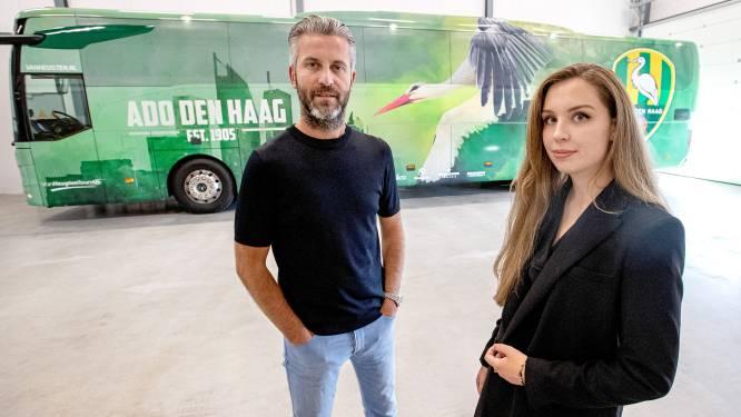 Spelersbus is het enige eredivisiewaardige aan ADO Den Haag: Ooievaar komt uit de rook van rookbommen