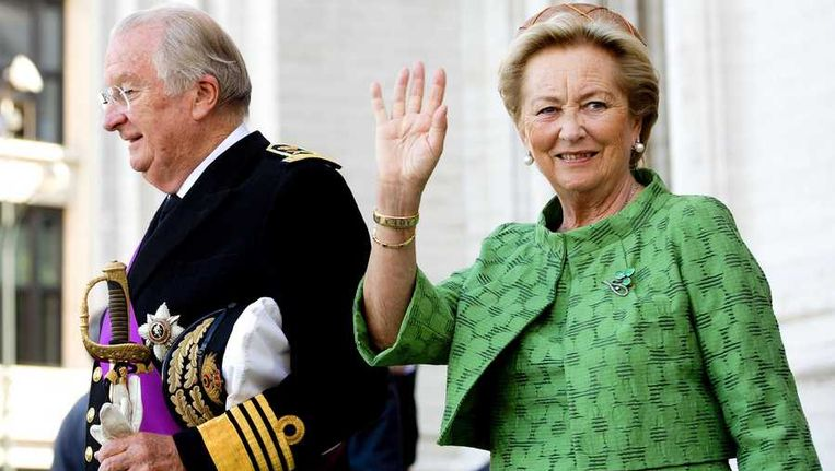 Koning Albert en koningin Paola. Beeld anp