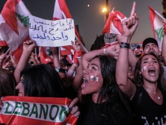 Tienduizenden mensen betogen in Beiroet