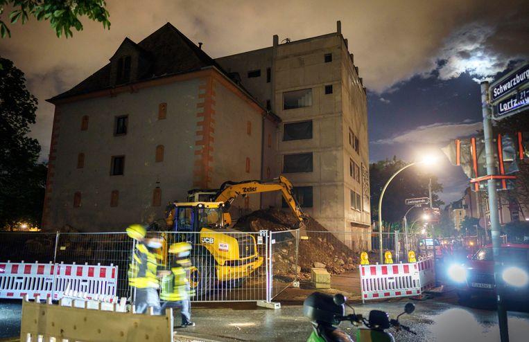 In Frankfurt werd in mei van dit jaar nog een bom van 500 kilo tot ontploffing gebracht. Beeld AP