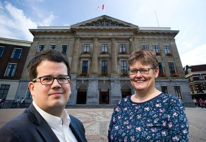 Dimitri Gilissen (VVD) en Heleen de Boer (GroenLinks).