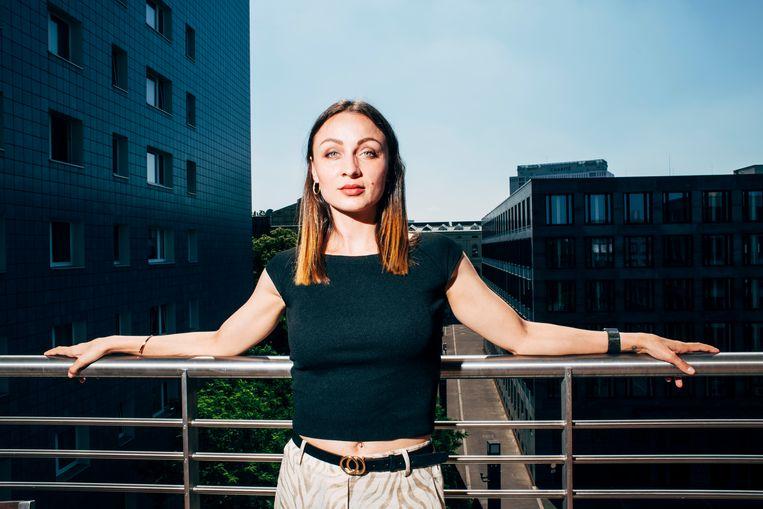 Kristina Vorobeva: 'Ik wist: vandaag kan ik vliegen, maar morgen kan ik vallen en alles in mijn lijf gebroken hebben. Dus ik ben hier altijd klaar voor geweest.'  Beeld Nikita Teryoshin