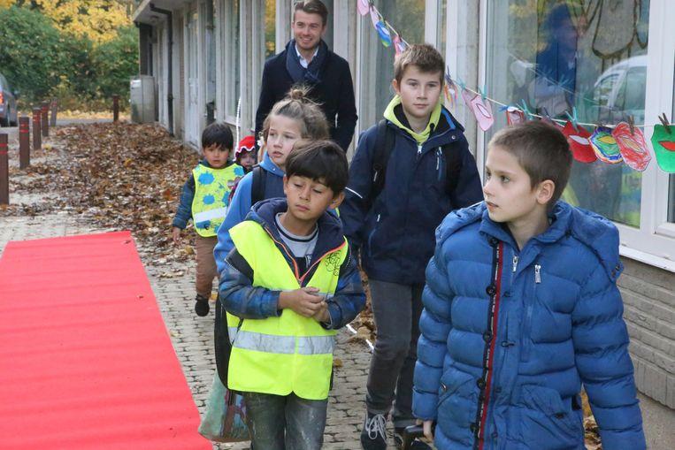 Ook de rode loper lag klaar om de vipkinderen te verwelkomen.
