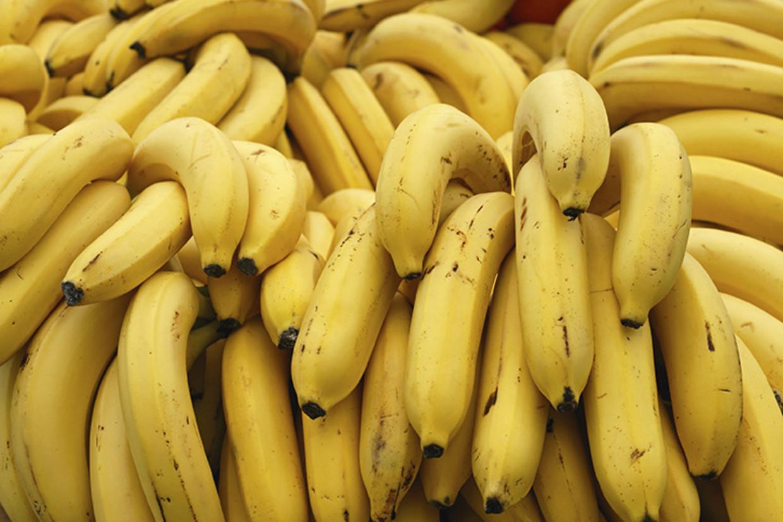 De drugs waren verborgen in een container met bananen.
