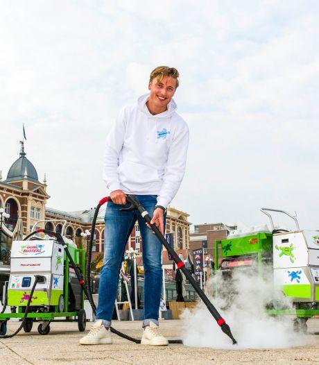 Scheveningse boulevard kauwgomvrij gemaakt: 'Te veel mensen spugen hun gom achteloos uit'