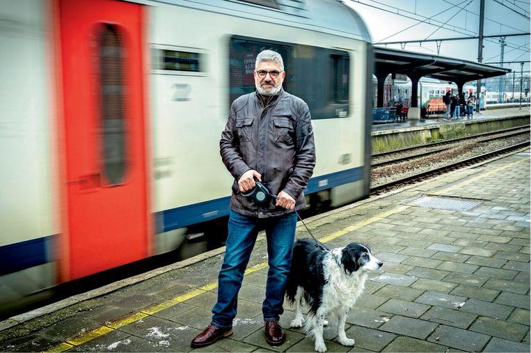 Panayotis Andronikos, vader van Jérôme: 'Ik ben zelf jaren treinbestuurder geweest. Maar het werd steeds moeilijker om te werken voor een werkgever die mijn zoon had gedood.' Beeld Guy Puttemans