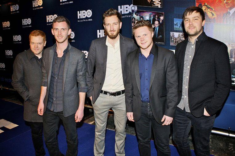 De Britse band Morning Parade tijdens het feestje van de Amerikaanse  televisiezender Home Box Office (HBO). Hun lied Under The Stars is de  titelsong voor de officiële HBO TV-reclame. Beeld null