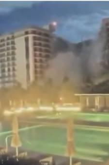 L'effondrement d'un immeuble à appartements à Miami filmé par une caméra de surveillance
