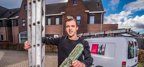 Justin (22) uit Enschede begint voor zichzelf als glazenwasser: 'Ik ben een buitenpersoon'