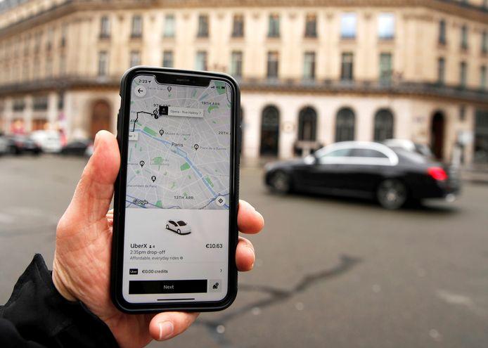 De app Uber.