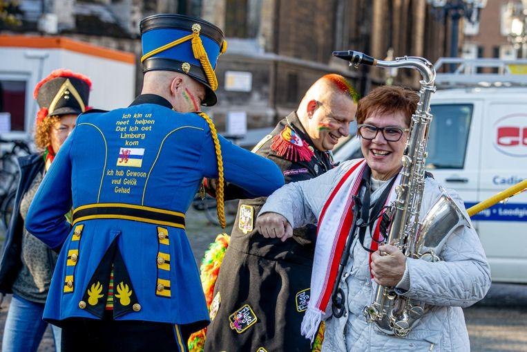 Start van het carnavalsseizoen in Maastricht, zoals altijd op 11 november. Beeld Hollandse Hoogte