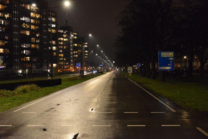 Stil op de weg in Breda.