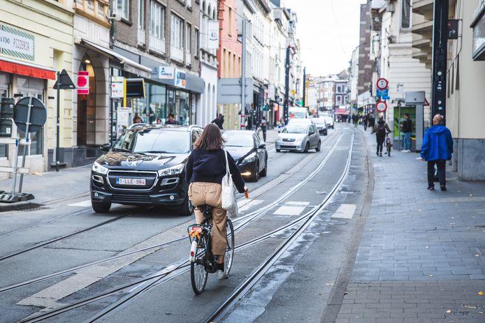 Gent, fietsers, kortrijksepoortstraat, foute richitng