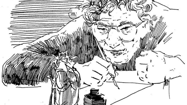 Zelfportret Peter van Straaten Beeld Het Parool