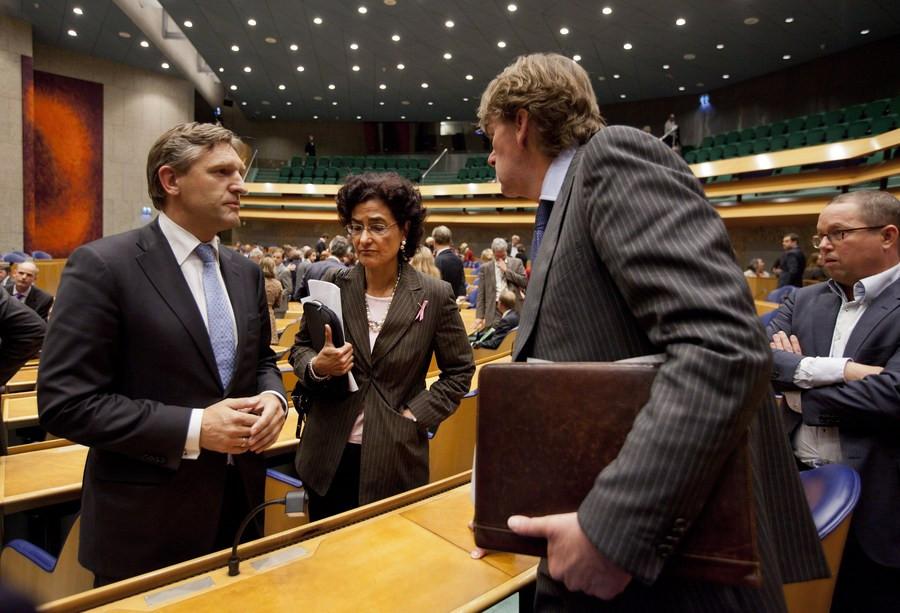 Kathleen Ferrier en Ad Koppejan in de Kamer. FOTO ANP