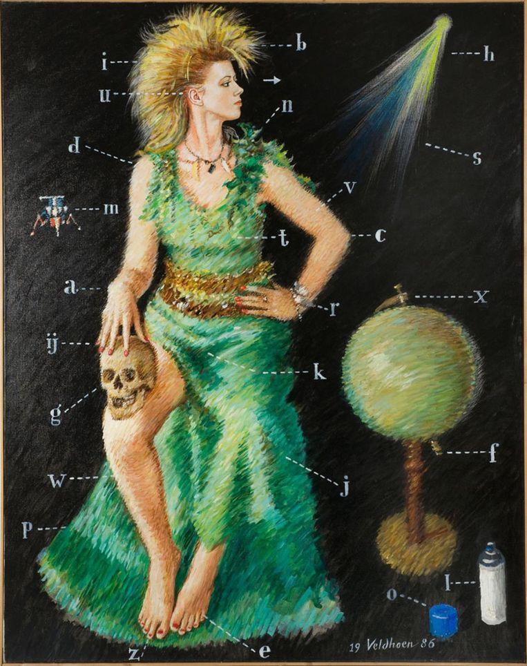 Dichteres Diana Ozon, door Veldhoen. Uit 1986 Beeld .