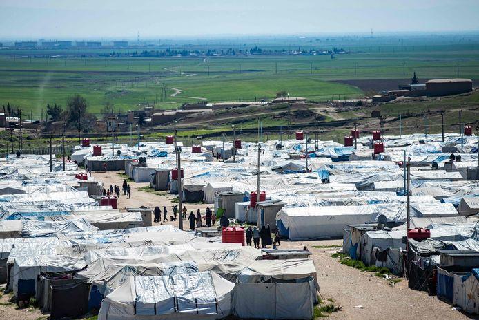 De moeders en hun kinderen bevinden zich in kamp Roj.