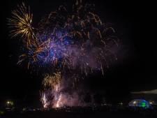 Vuurwerkshow op vakantiepark Maurik