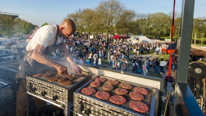 Festival TREK in het Roel Langerakpark.