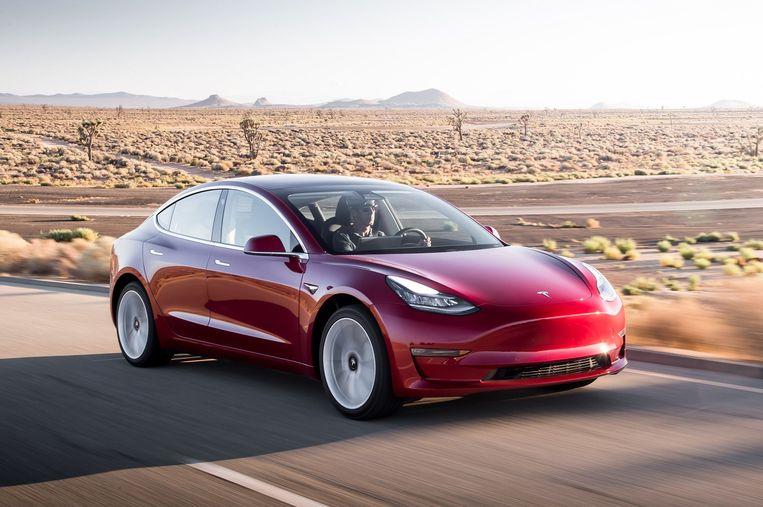 De Tesla Model 3. Beeld RV
