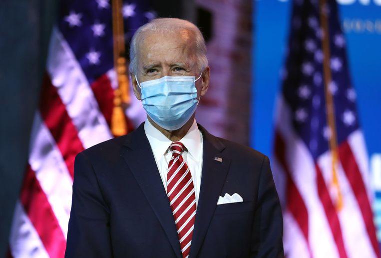 De toekomstige Amerikaanse president Joe Biden.  Beeld AFP