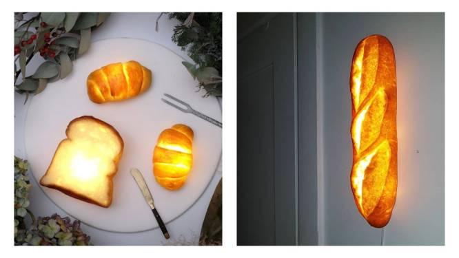Extreme upcycling: dit merk maakt unieke lampen van baguettes, croissants en boterhammen