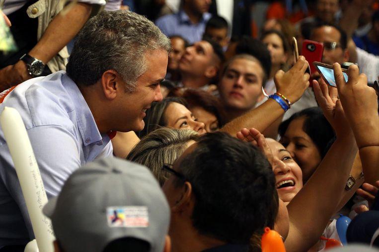 Presidentskandidaat Ivan Duque  Beeld EPA