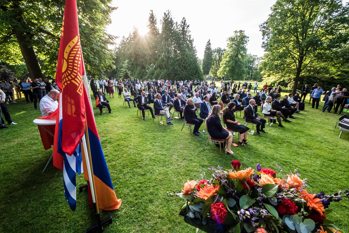 De herdenking van de genocide op de Arameërs in het Volkspark in Enschede, vorige maand.