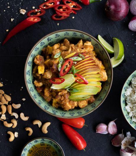 Wat Eten We Vandaag: Mangokip met kokosrijst