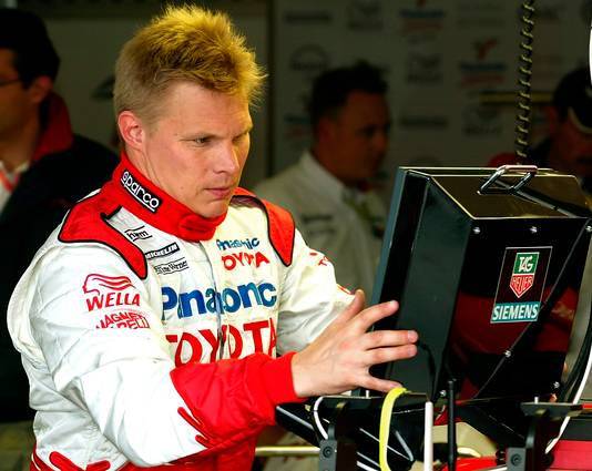Mika Salo in 2002 als coureur.