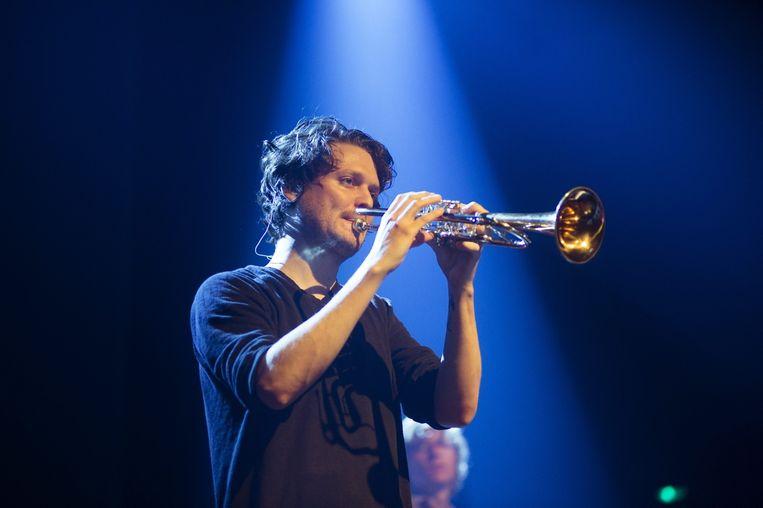 Beirut-frontman Zach Condon. Beeld Alex Vanhee