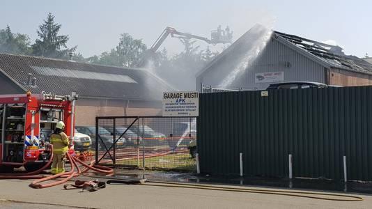 De brandweer in actie op de Frankeneng in Ede.