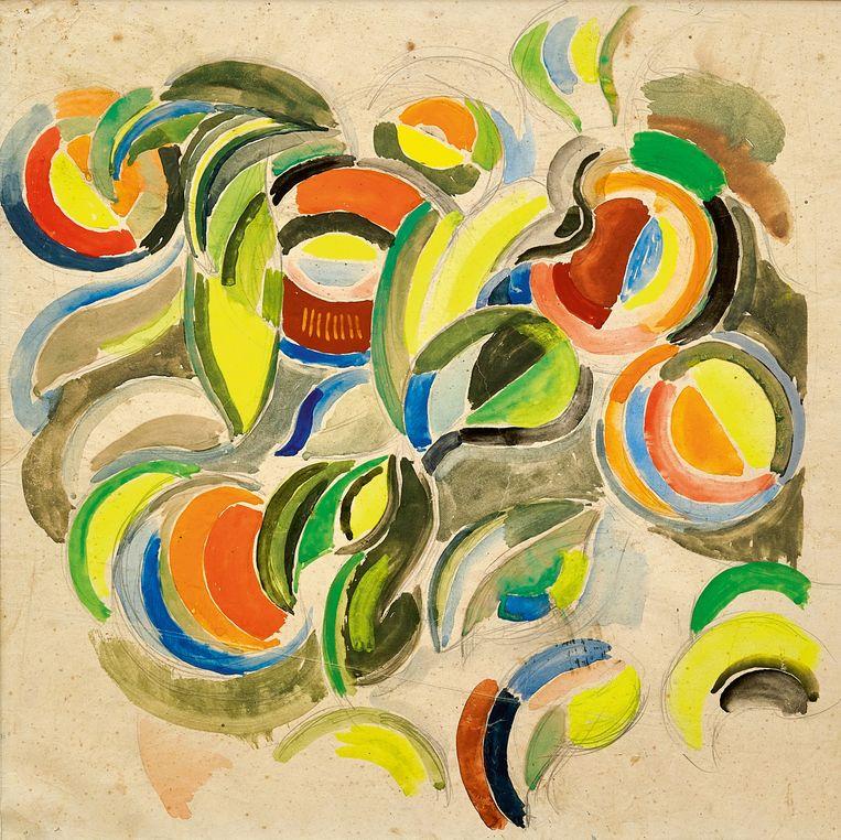 Sonia Delaunay, Projet de décoration pour l'un des pavillons de l'Exposition Internationale de Paris (1937). Beeld