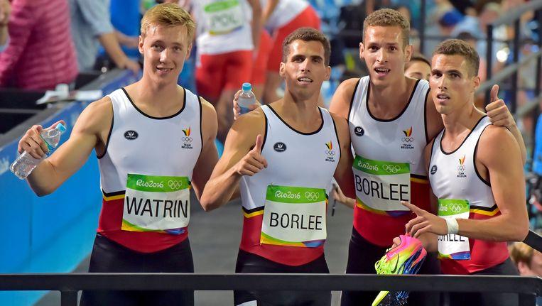 De Belgian Tornados pakten op de Olympische Spelen nipt naast een bronzen medaille. Beeld Photo News