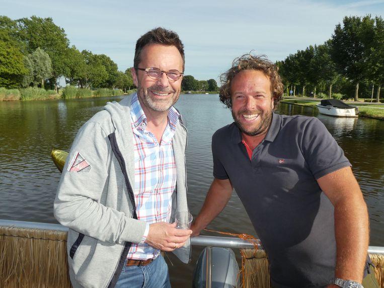Martin Schuurman (MKB Brandstof) en schipper Rob van Setten (Nettes):