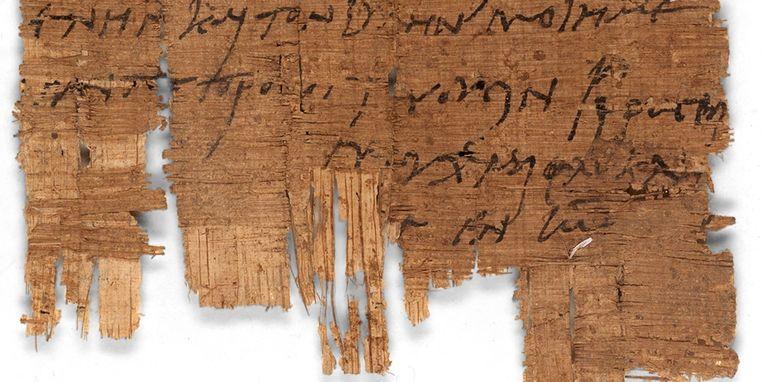 Deze brief die dateert van 280 na chr. geeft een inkijkje in het leven van christenen in het Romeinse rijk. Beeld Hollandse Hoogte / EPA