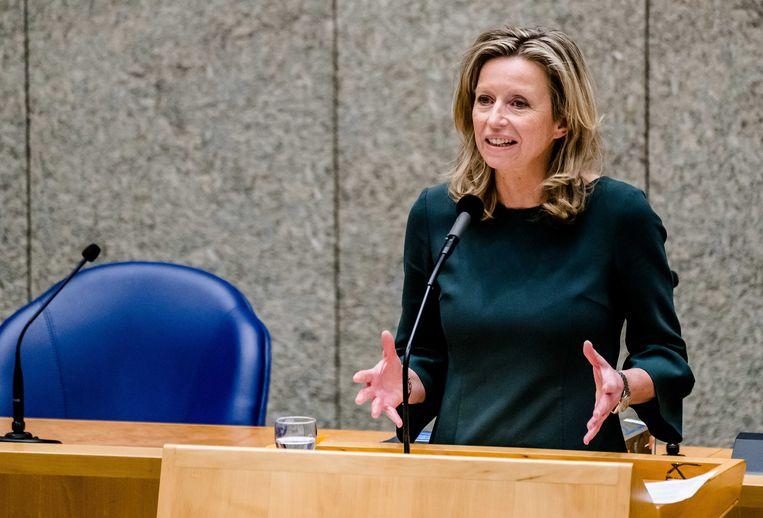 Kajsa Ollongren in de Tweede Kamer. Beeld ANP